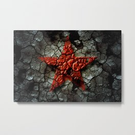 Red Star Of Chernobyl Metal Print