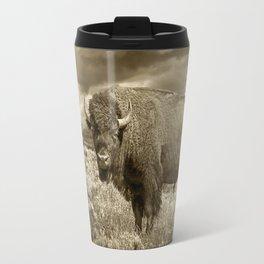 American Buffalo in Sepia Tone Travel Mug