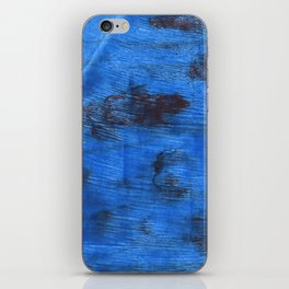 Bright navy blue abstract watercolor iPhone Skin