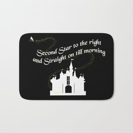 Tinkerbelle Peter Pan Second Star to the Right Bath Mat
