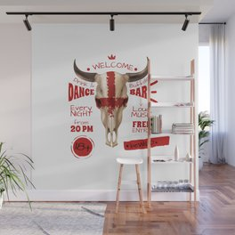 Bull Skull Dance Wall Mural