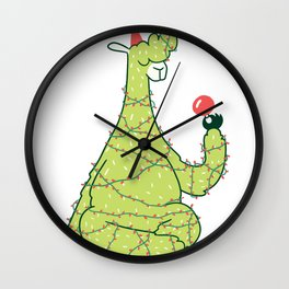 Lama Christmas Wall Clock
