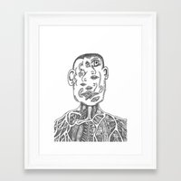 picasso Framed Art Prints featuring Picasso by Octopiece