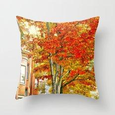South End. Fall in Boston, MA.  Throw Pillow