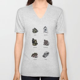 Rock collection with names Unisex V-Neck