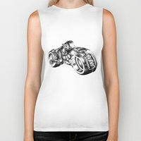 tron Biker Tanks featuring tron by liz williams