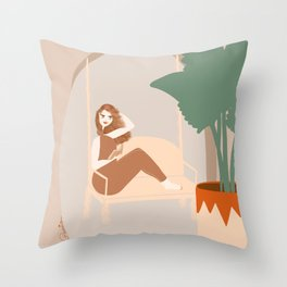 Lounge and Read Throw Pillow