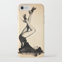 heels iPhone & iPod Cases featuring HEELS HIGH by F. J. Lara
