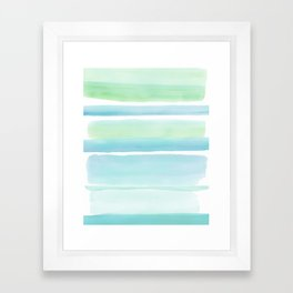 Beach Glass Framed Art Print
