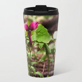 Understory Ephemerals - Red Trillium and White Trillium Travel Mug