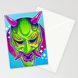 Neon Noh - Hannya Stationery Cards