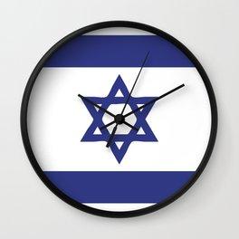 Israel flag emblem Wall Clock