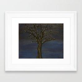 Moonlit Tree Framed Art Print