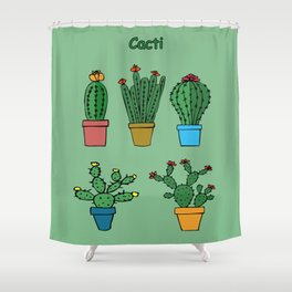 Cacti #2 Shower Curtain