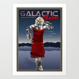 Galactic Cover Girl Art Print