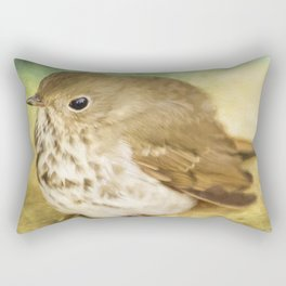 Patiently Waiting - Bird Art Rectangular Pillow