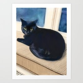 Ned the Cat Art Print