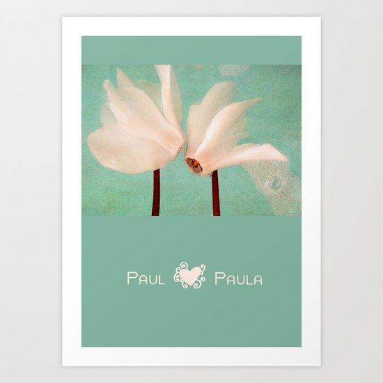 paul + paula Art Print