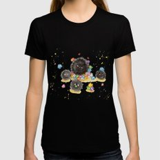 Hungry Soot Sprites  Womens Fitted Tee Black MEDIUM