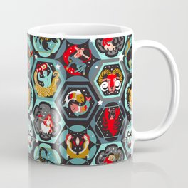 Hexagon zodiacs Coffee Mug