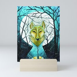 Lobo de Luna Mini Art Print