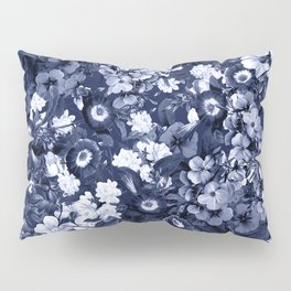 Bohemian Floral Nights in Navy Pillow Sham