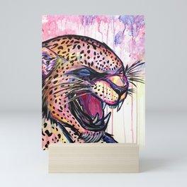Leopard Scream Mini Art Print