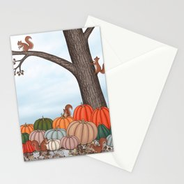 heirloom pumpkins, squirrels, & the oak tree Stationery Cards