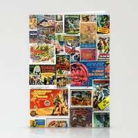 movie posters Stationery Cards featuring Vintage Sci-Fi Movie Posters  |  Collage by Silvio Ledbetter