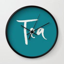 Teal Tea Wall Clock