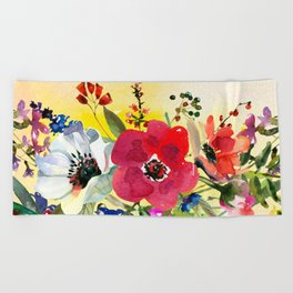 Flowers bouquet #44 Beach Towel