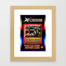 The King of Arcades Card Framed Art Print