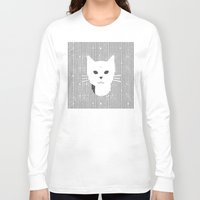 stripe Long Sleeve T-shirts featuring Stripe Kitty by omgcatz