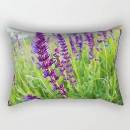 sage salvia meadow Rectangular Pillow