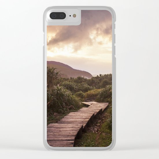 Blue Hour at Green Island, Taiwan Clear iPhone Case