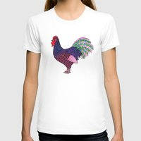 rooster T-shirts featuring Rooster by Michalacaney