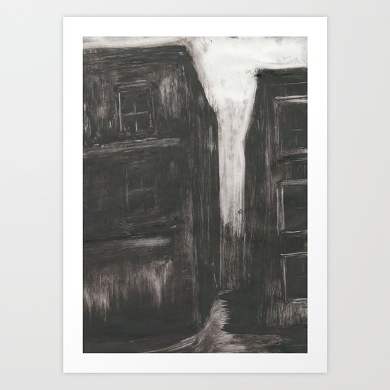 An Evening in Whitechapel II Art Print