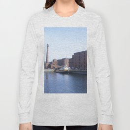 Pump house Pub and the Albert Dock Long Sleeve T-shirt