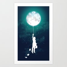 Burn the midnight oil  Art Print