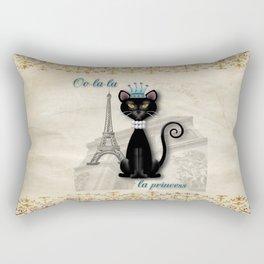 Oo-la-la, the French Princess Kitty Rectangular Pillow