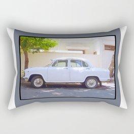 Indian Ambassador car in Pondicherry Rectangular Pillow