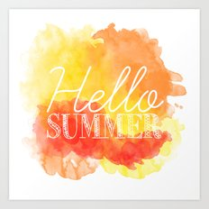 Hello Summer; Art Print