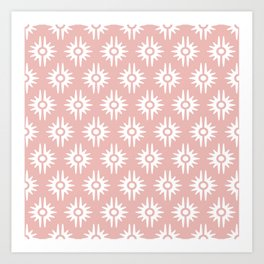Mid Century Modern Bang Pattern 271 Dust Rose Art Print