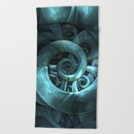 Gone Spiral Beach Towel