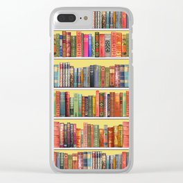 Christmas books antique vintage library Clear iPhone Case
