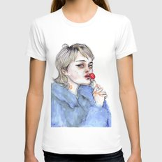 Sky lollipop  LARGE White Womens Fitted Tee