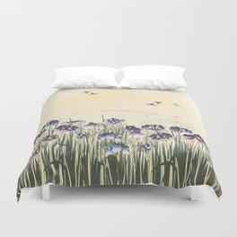 Iris meadow Duvet Cover