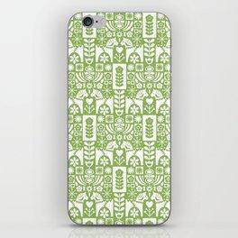 Swedish Folk Art - Greenery iPhone Skin
