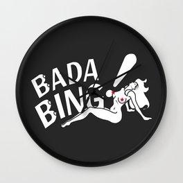 Neon Bada Bing! Wall Clock