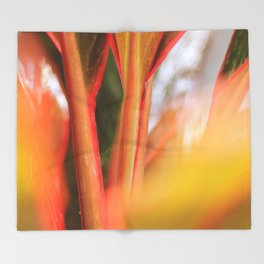 Beautiful Reddish Plant Stem Throw Blanket